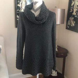 🎉Gray Wool Cowl Neck Sweater